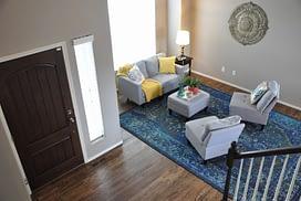 Formal living room staged