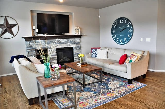 Family Room staged